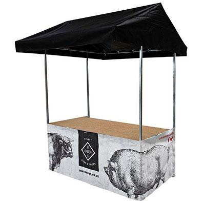 Custom Printed Market Stall for Bohns Rubs