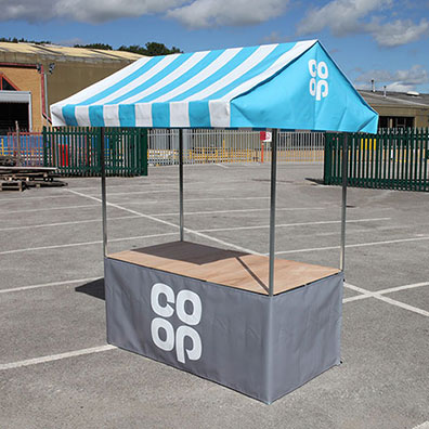 Custom Printed Market Stall for Co-op Supermarkets