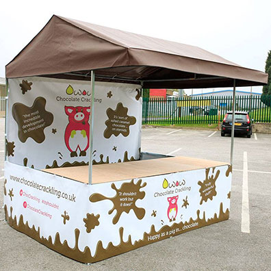 Branded Market Stall for Chocolate Crackling