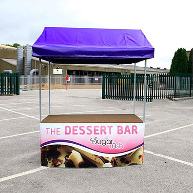 Custom Printed Market Stall for The Dessert Bar