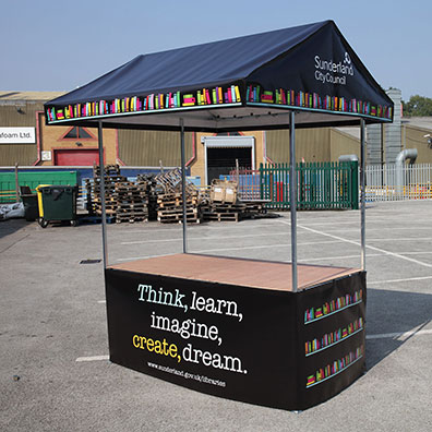 Custom Printed Market Stall for Sunderland City Council