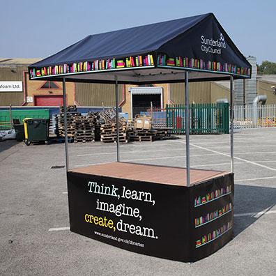 Custom Printed Market Stall for Sunderland City Council