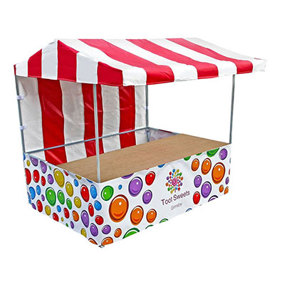Custom Printed Market Stall for Toots Sweets