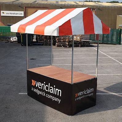 Custom Printed Market Stall for Vericlaim