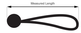 Bungee Cord Measured Length