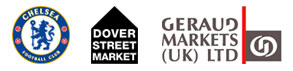 Chelsea Football Club, Dover Street Market and Group Geraud Market Stalls