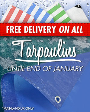 Free Delivery on Tarpaulins until end of January 2015
