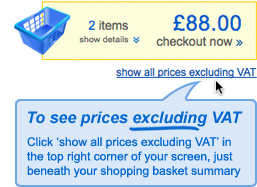 Show prices Excluding VAT tutorial
